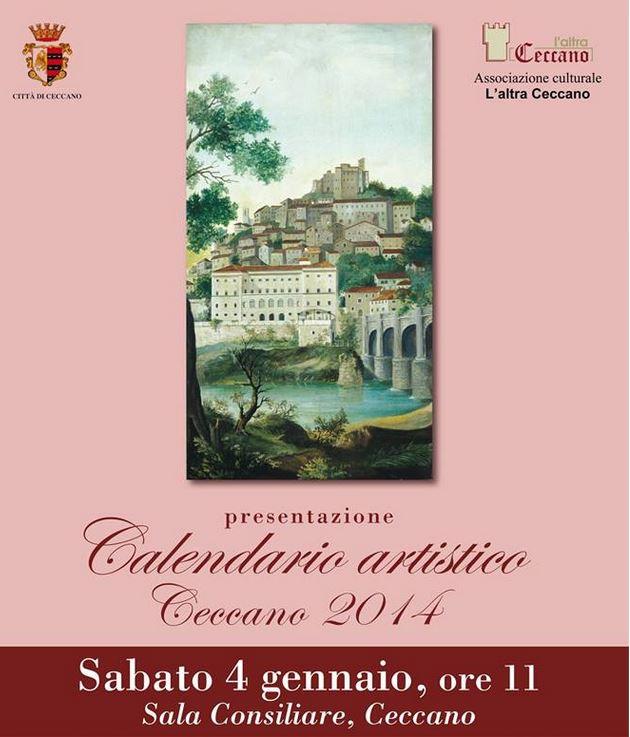 Calendario Artistico.Ceccano Calendario Artistico Sabato 4 Gennaio In Municipio