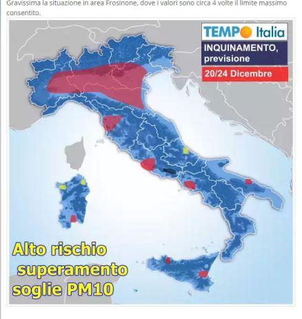 mappa italia pm10