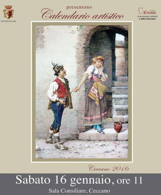 Calendario Artistico.Ceccano Calendario Artistico Sabato 16 Gennaio