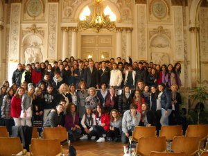 gli allievi del Liceo di Ceccano ricevuti nella Mairie d'Avignon nel nome di Annibaldo
