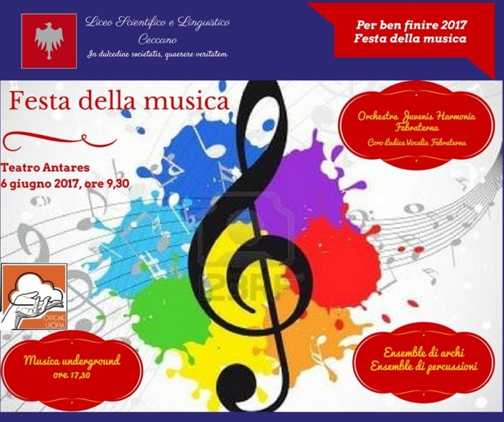 manifesto saggi finali 2017 festa musica