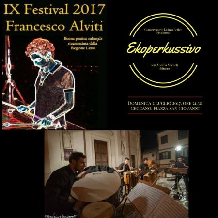 Festival 2017 manifesto ekoperkussivo 2 luglio 2017