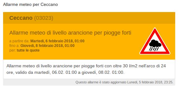 Allarme meteo per Ceccano (2)