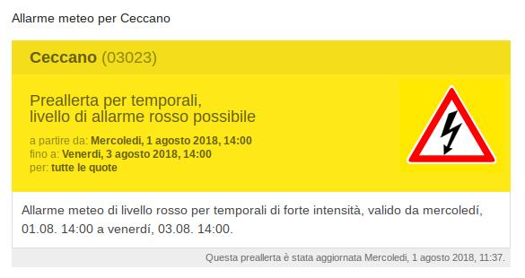 Allarme meteo per Ceccano (1)